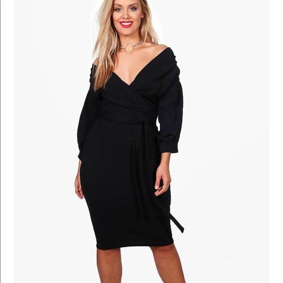 dceb297b2add Boohoo Plus Dresses & Skirts - BooHoo Plus Off Shoulder Black Dress